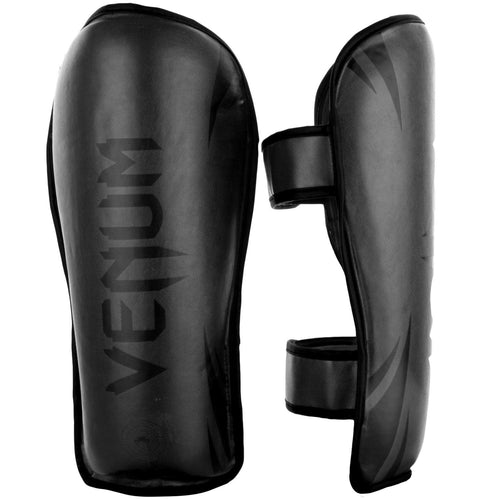 Venum Challenger Shin guards – Black/Black picture 1
