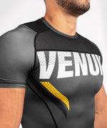 Venum ONE FC Impact Rashguard - short sleeves - Grey/Yellow - picture 5