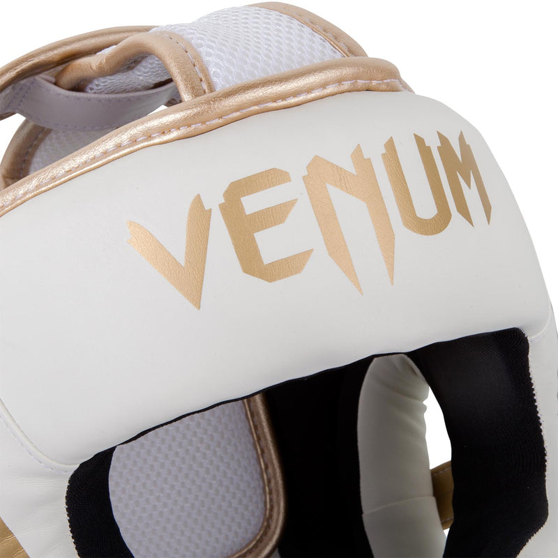 Venum Elite Headgear-White/Gold picture 3