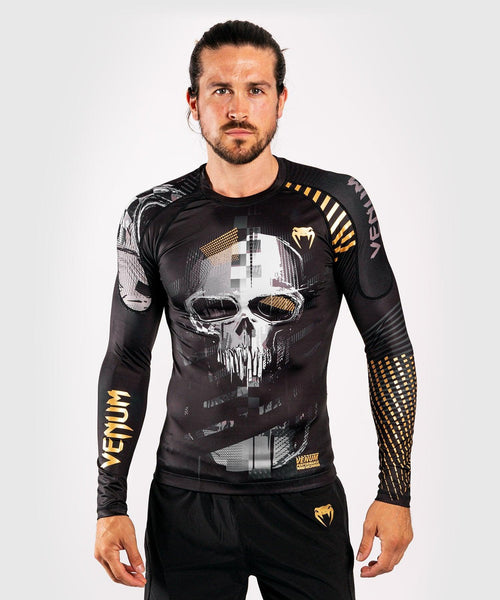 Venum Skull Rashguard - Long sleeves - Black picture 1