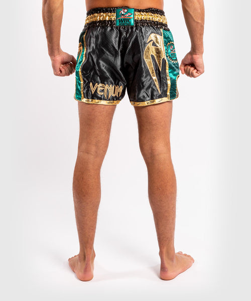 Venum WBC Muay Thai Shorts - Black/Green - Picture 2
