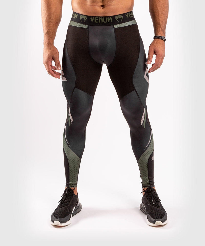Venum ONE FC Impact Compresssion Tights - Black/Khaki - picture 1