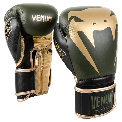 Venum Giant 2.0 Pro Boxing Gloves Linares Edition - Velcro – Khaki/Black/Gold picture 1