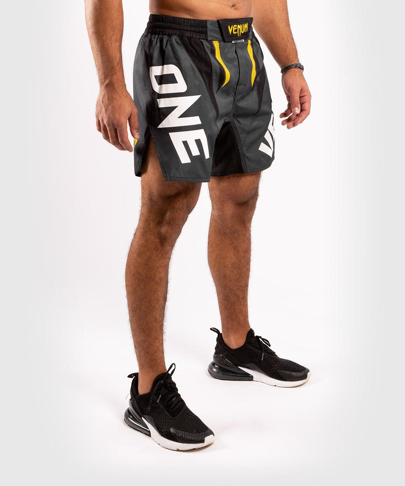 Venum ONE FC Impact Fightshorts - Grey/Yellow - picture 5