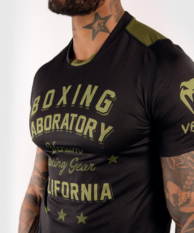Venum Boxing Lab Dry Tech T-shirt - Black/Green picture 5