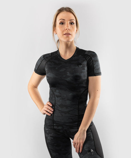 Venum Defender Rashguard - Short Sleeves - Black/Black picture 1
