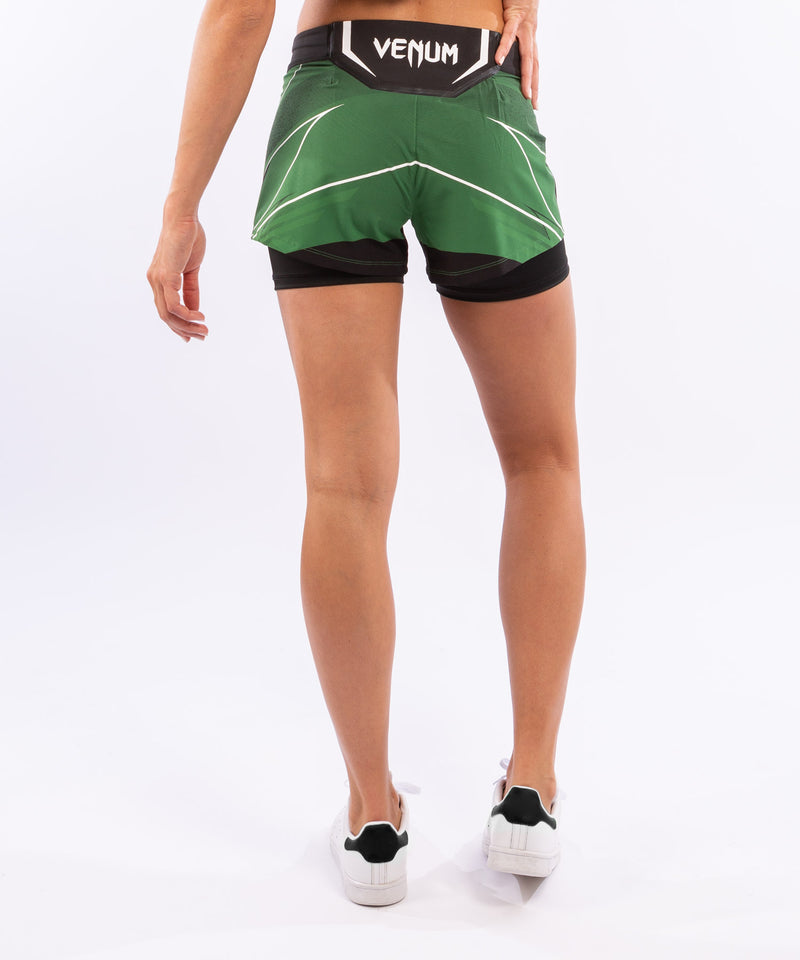 UFC Venum Authentic Fight Night Women's Shorts - Short Fit – Green Picture 2