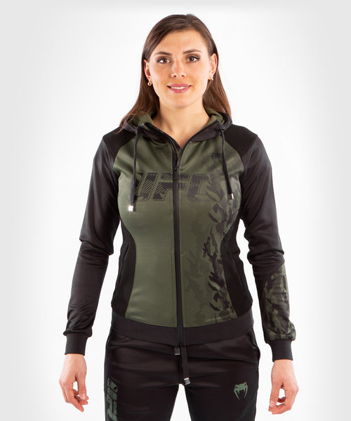 UFC Venum Authentic Fight Week Women's Zip Hoodie – Khaki Picture 1