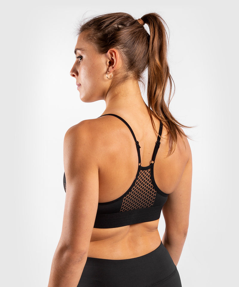Venum Tecmo Sport Bra - For Women - Black/Bronze - picture 4