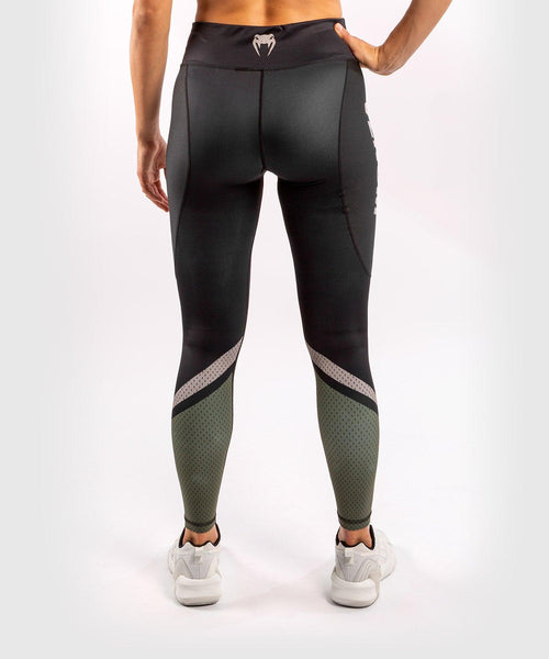 Venum ONE FC Impact Leggings - for women - Black/Khaki - picture 2