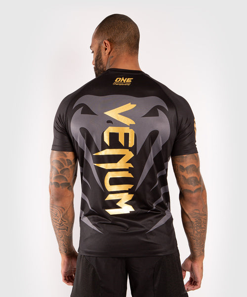 Venum x ONE FC Dry Tech T-shirt - Black/Gold picture 2