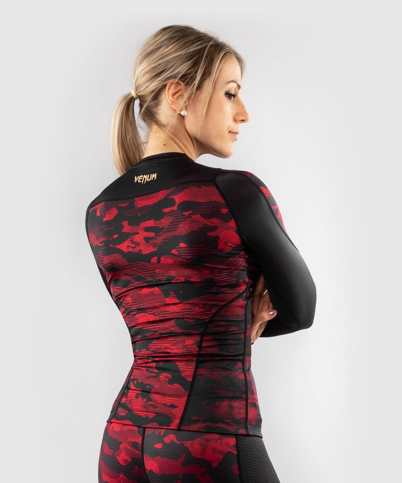 Venum Defender long sleeve Rashguard - for women - Black/Red picture 4