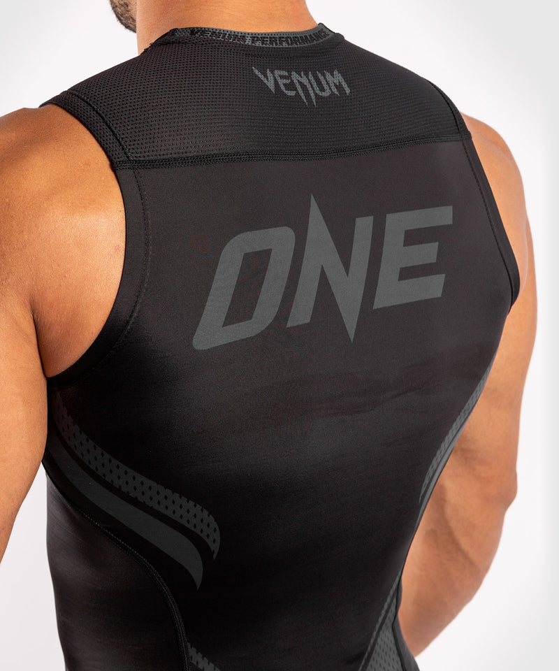 Venum ONE FC Impact Rashguard - sleeveless - Black/Black - picture 6