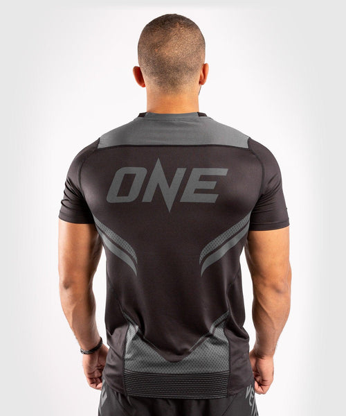 Venum ONE FC Impact Dry Tech T-Shirt - Black/Black - picture 2