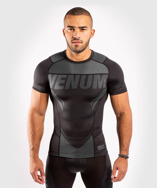 Venum ONE FC Impact Rashguard - short sleeves - Black/Black - picture 1