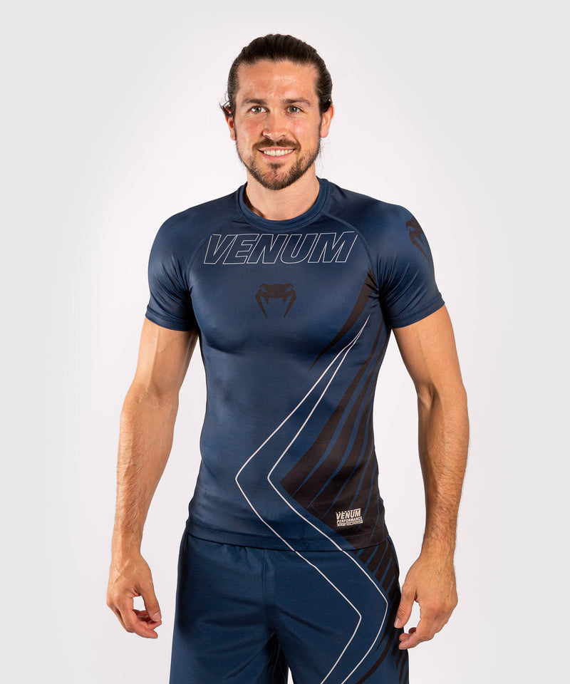 Venum Contender 5.0 Rashguard - Short sleeves - Navy/Sand picture 1