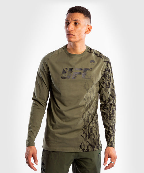 UFC Venum Authentic Fight Week Men's Long Sleeve T-shirt – Khaki Picture 1