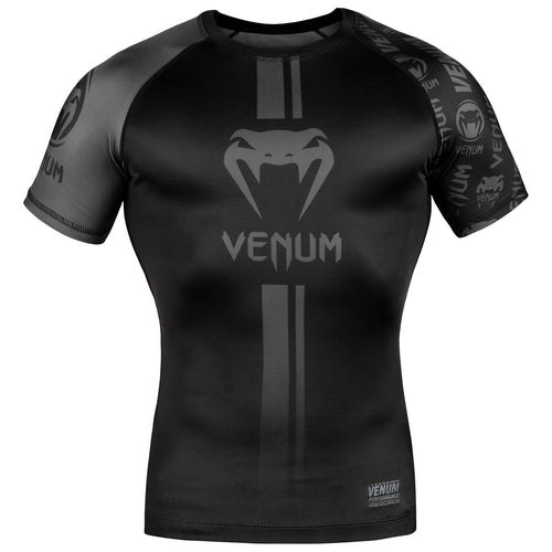 Venum Logos Rashguard - Short Sleeves – Black/Black picture 1