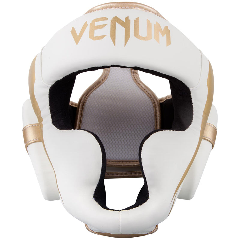 Venum Elite Headgear-White/Gold picture 2