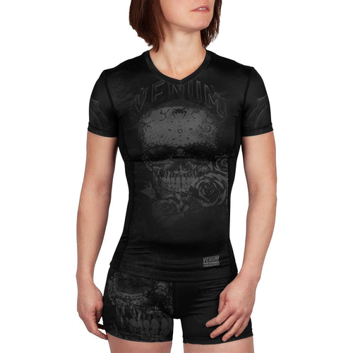 Venum Santa Muerte 3.0 Rashguard - Short Sleeves - For Women – Black/Black picture 1