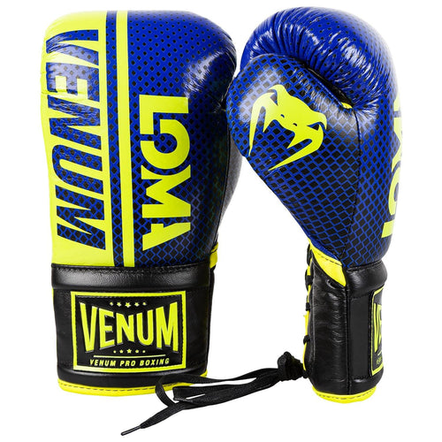 Venum Shield Pro Boxing Gloves Loma Edition - With Laces – Blue/Yellow picture 2