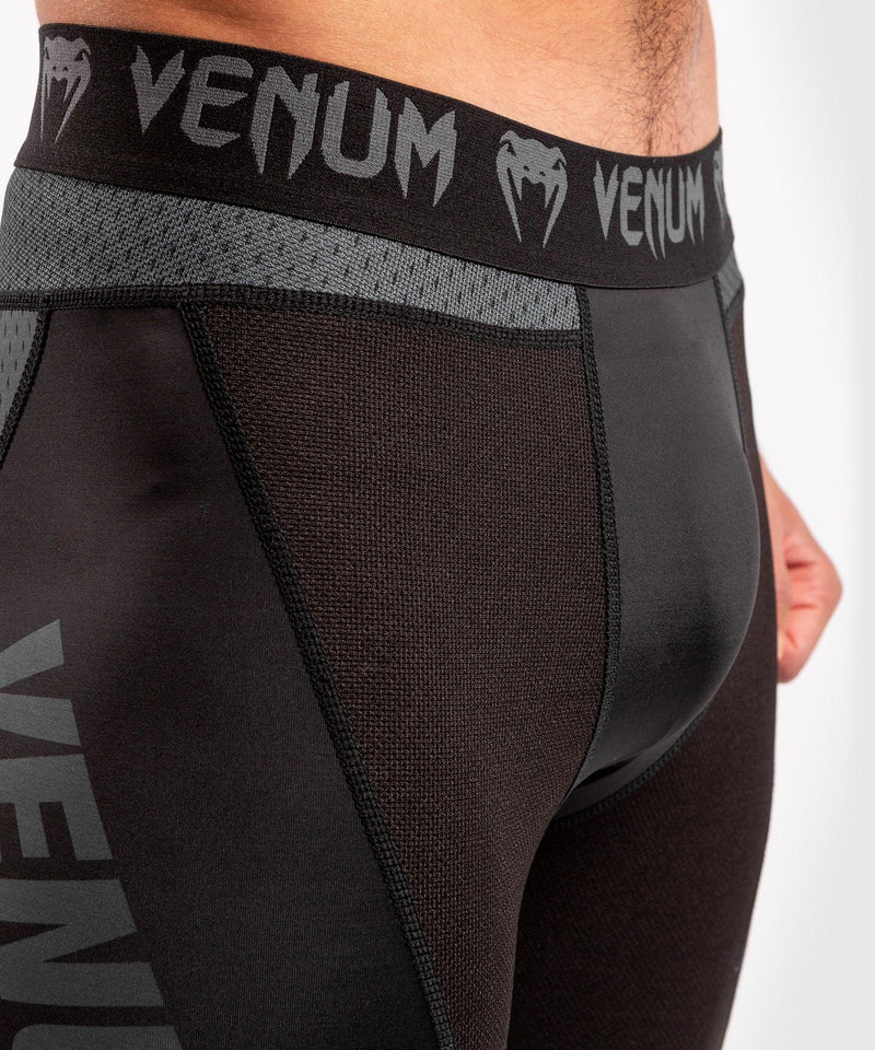 Venum ONE FC Impact Compresssion Tights - Black/Black - picture 6