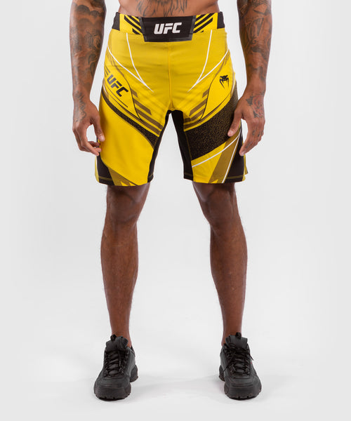 UFC Venum Authentic Fight Night Men's Shorts - Long Fit – Yellow Picture 1