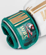 Venum WBC Muay Thai Boxing Gloves - White/Green - Picture 4