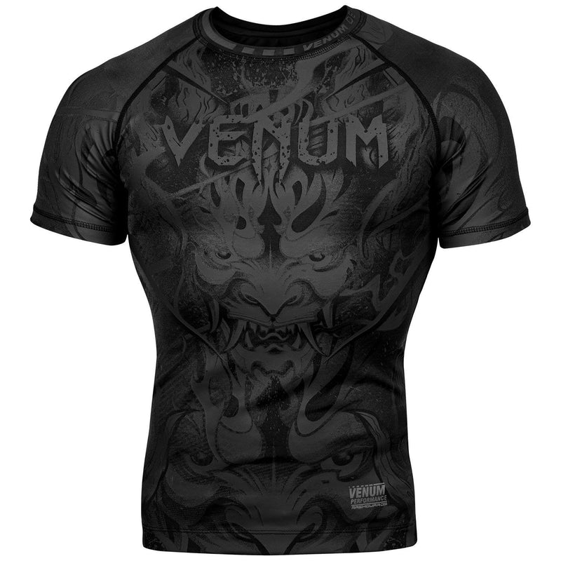 Venum Devil Rashguard - Short Sleeves – Black/Black picture 1