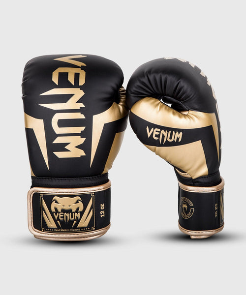 Venum Elite Boxing Gloves – Black/Gold picture 1