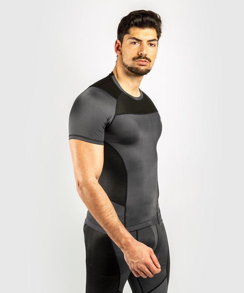 Venum G-Fit Rashguard - Short Sleeves - Grey/Black picture 3