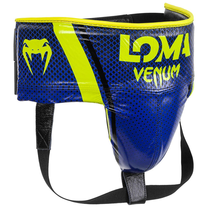 Venum Pro Boxing Protective Cup Loma Edition - Velcro – Blue/Yellow picture 3