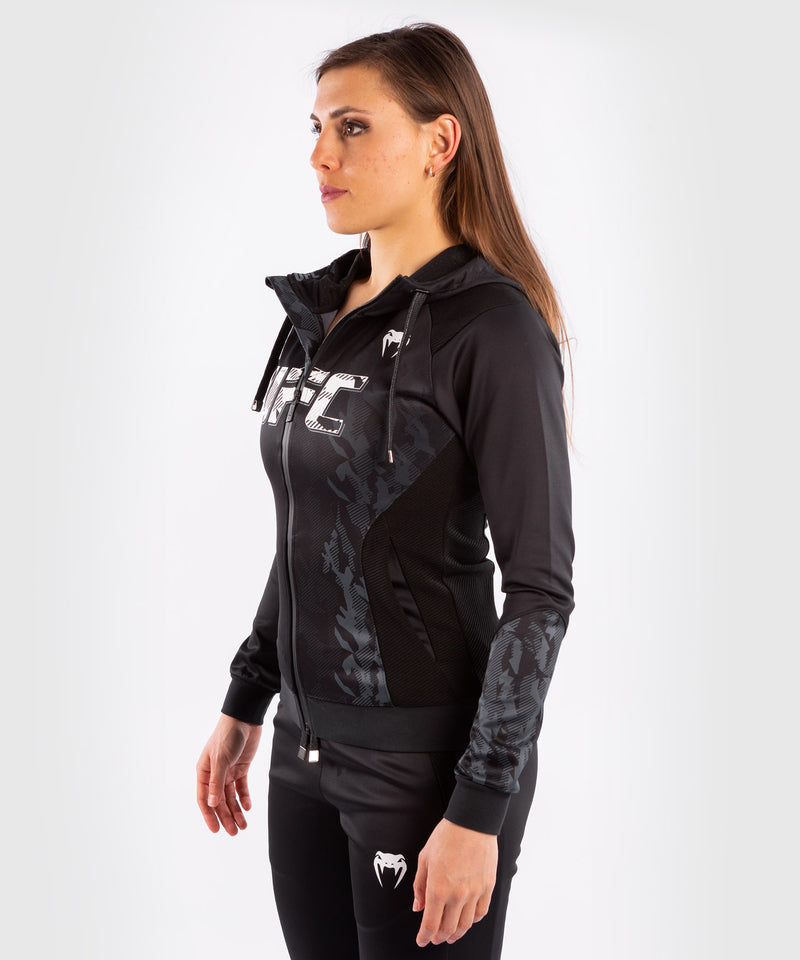 UFC Venum Authentic Fight Week Women's Zip Hoodie – Black Picture 3