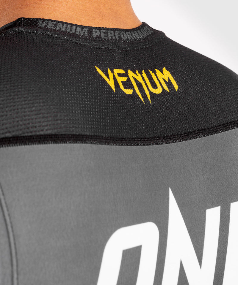 Venum ONE FC Impact Rashguard - sleeveless - Grey/Yellow - picture 7