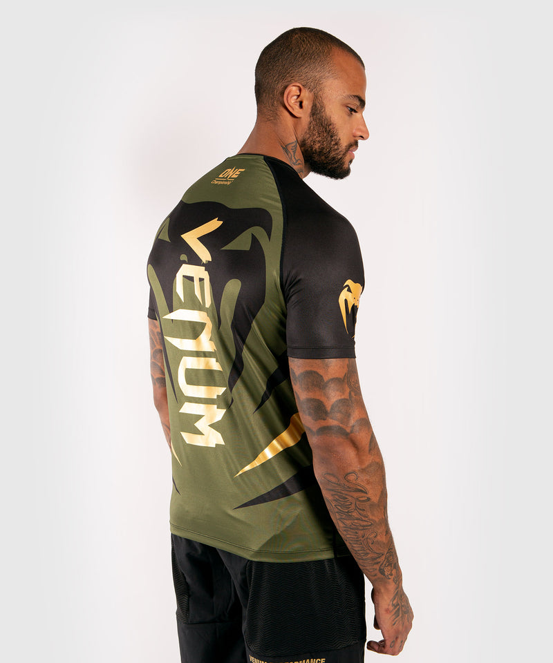 Venum x ONE FC Dry Tech T-shirt - Khaki/Gold picture 4