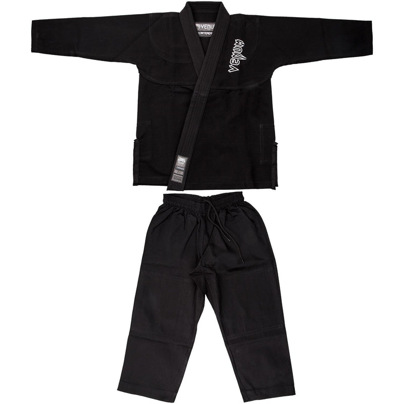Venum Contender Kids BJJ Gi (Free white belt included) – Black picture 9