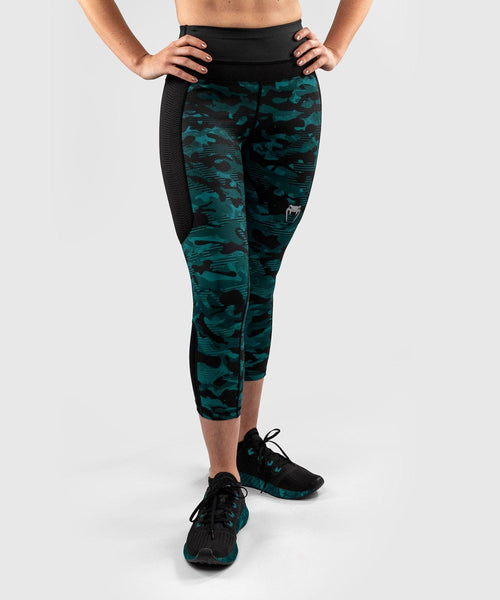 Venum Defender Crop Leggings - for women - Black/Green picture 1
