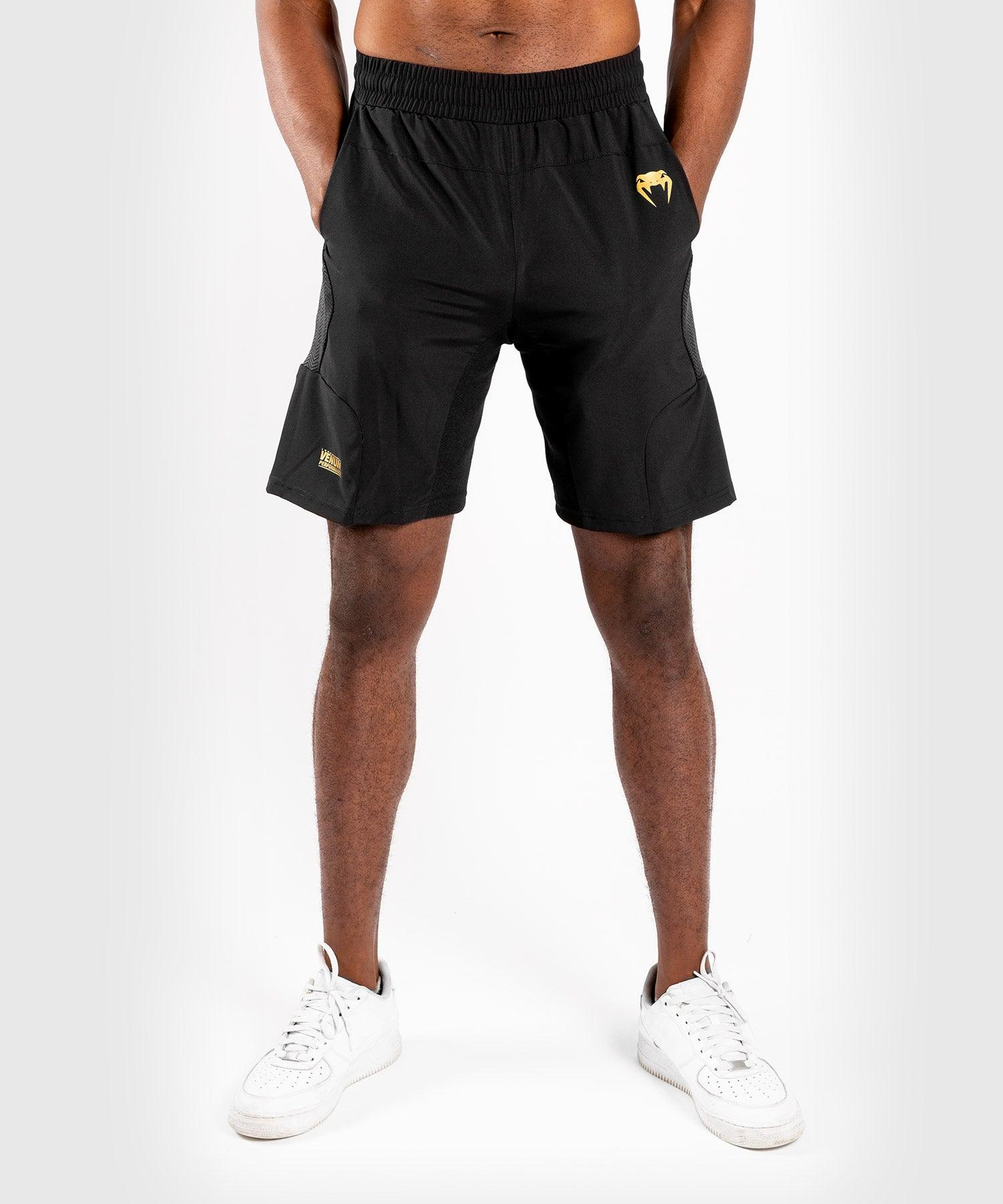 Venum G-Fit Training Shorts – Black/Gold picture 1