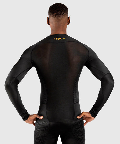 Venum G-Fit Rashguard - Long Sleeves – Black/Gold picture 2