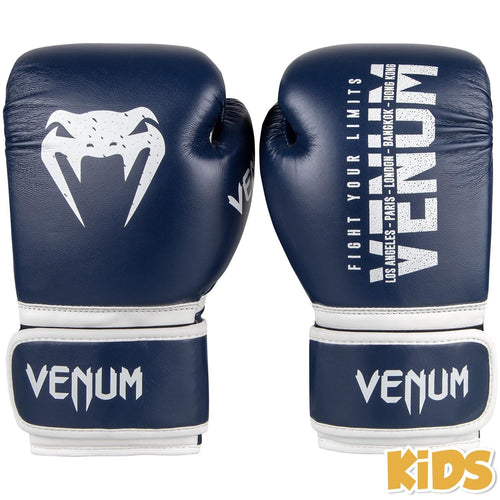 Venum Signature Kids Boxing Gloves - Navy Blue picture 1