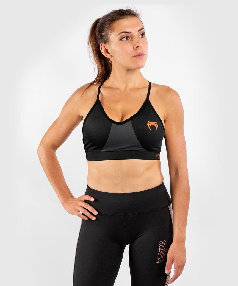 Venum Dune 2.0 Sport Bra - For Women - Black/Bronze - picture 3