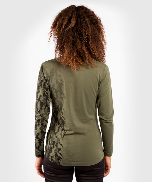 UFC Venum Authentic Fight Week Women's Long Sleeve T-shirt – Khaki Picture 2