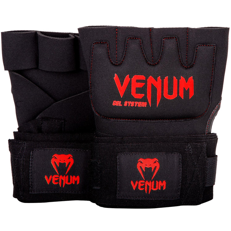 Venum Kontact Gel Glove Wraps - Black/Red picture 1