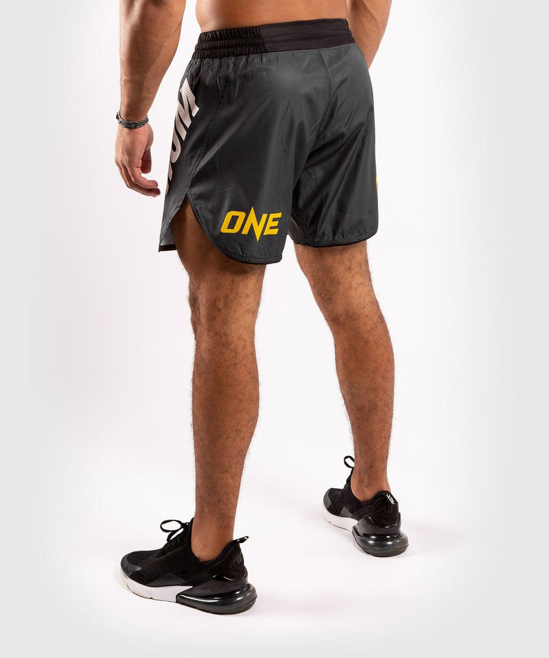 Venum ONE FC Impact Fightshorts - Grey/Yellow - picture 4
