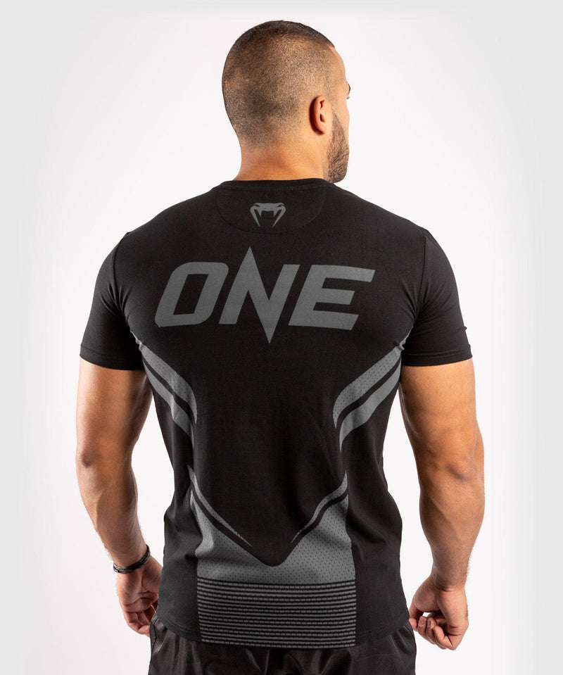 Venum ONE FC Impact T-shirt - Black/Black - picture 2