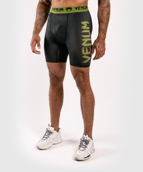 Venum Boxing Lab Compression shorts - Black/Green picture 1