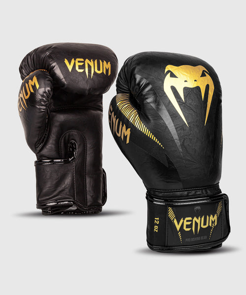Venum Impact Boxing Gloves – Gold/Black picture 1