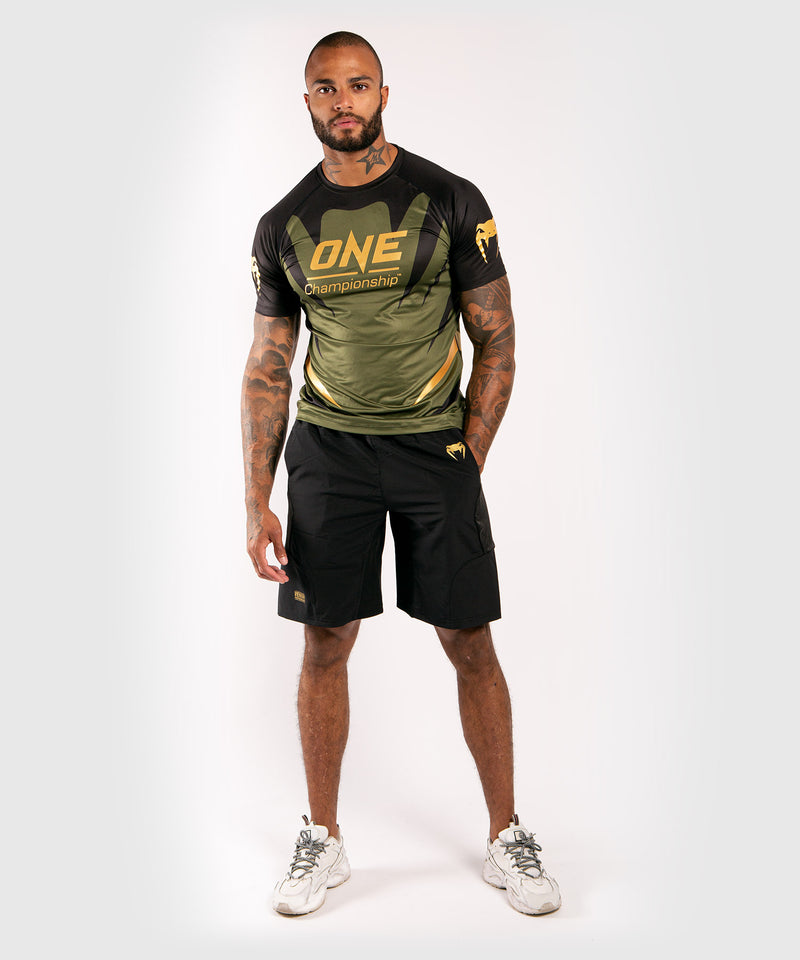 Venum x ONE FC Dry Tech T-shirt - Khaki/Gold picture 5