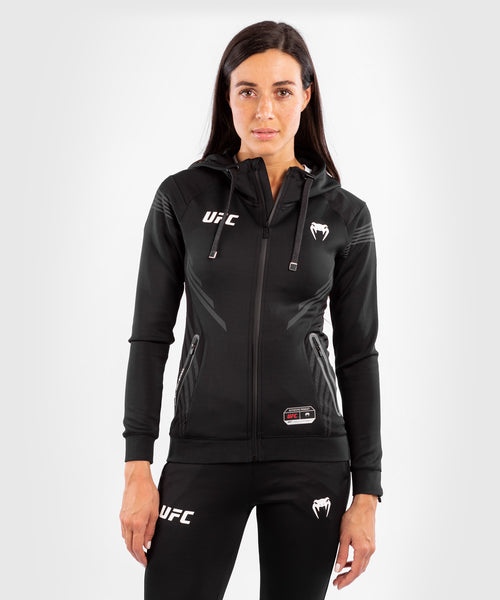 UFC Venum Authentic Fight Night Women's Walkout Hoodie – Black Picture 1