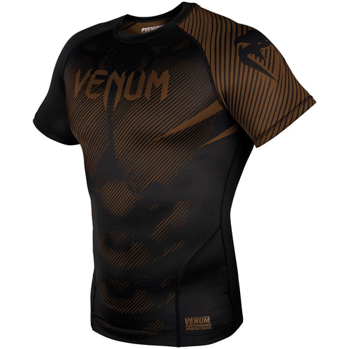 Venum NoGi 2.0 Rashguard - Short Sleeves – Black/Brown picture 2
